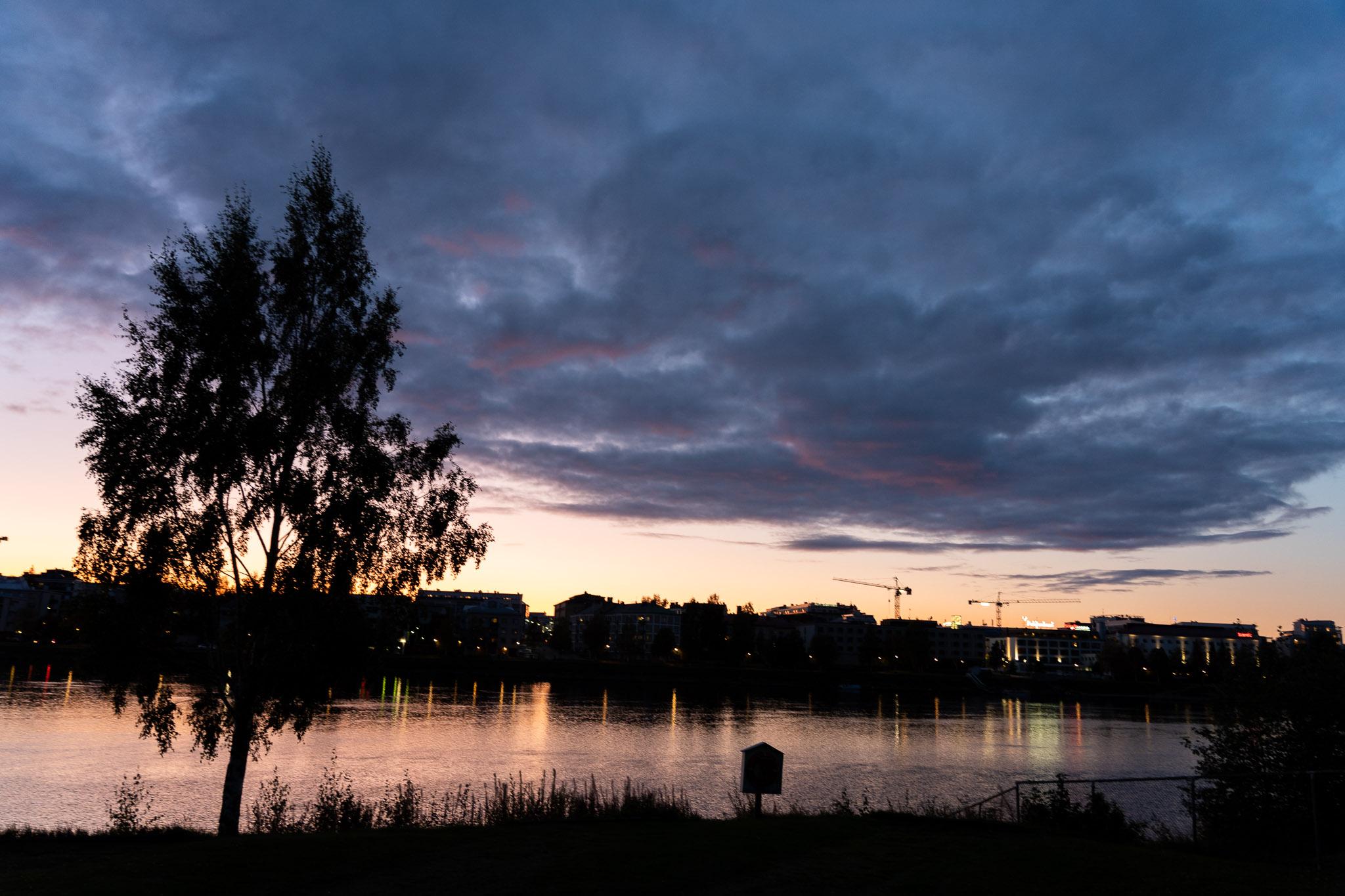 Abendstimmung über Rovaniemi