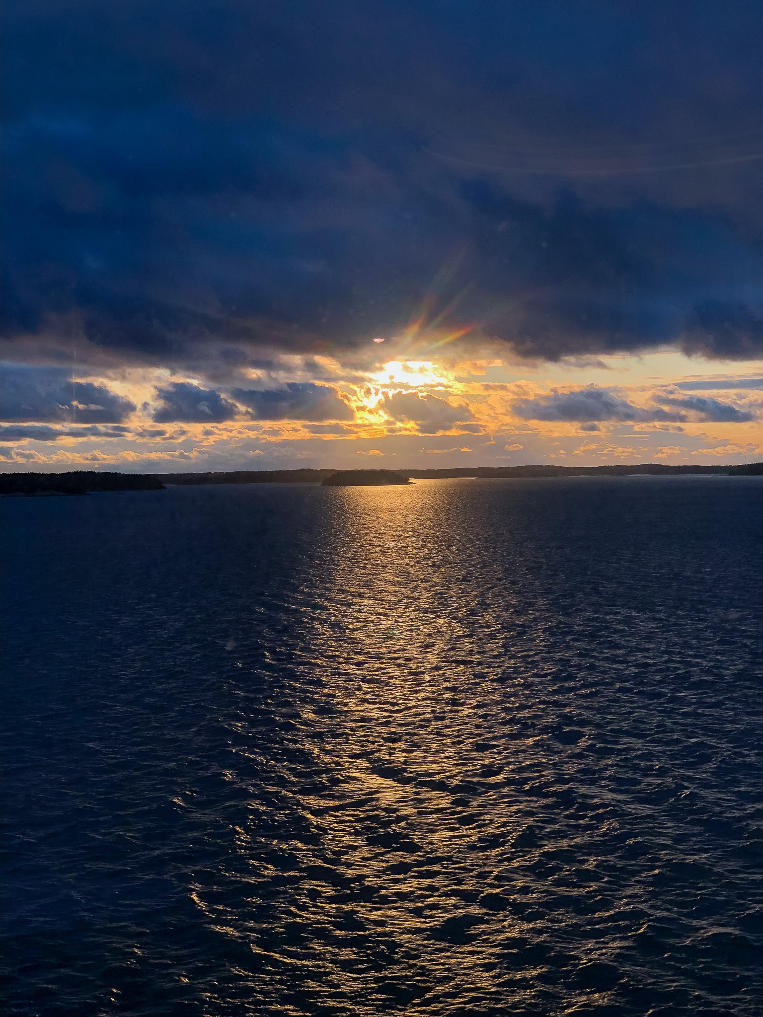 Sonnenuntergang kurz vor Turku