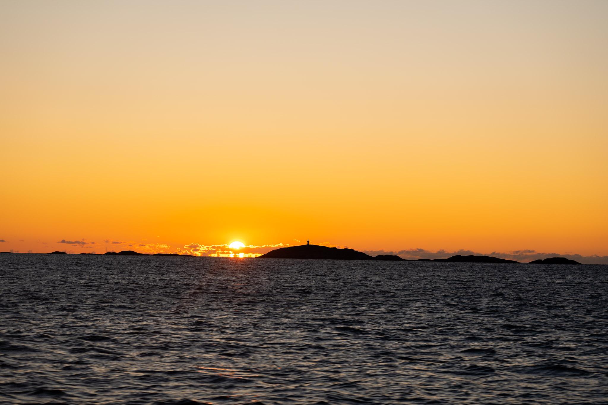 Sonnenuntergang bei Rückfahrt