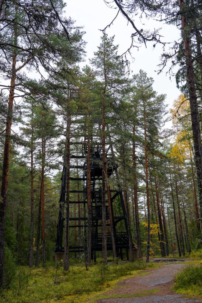 Aussichtsturm in Färnebofjärden