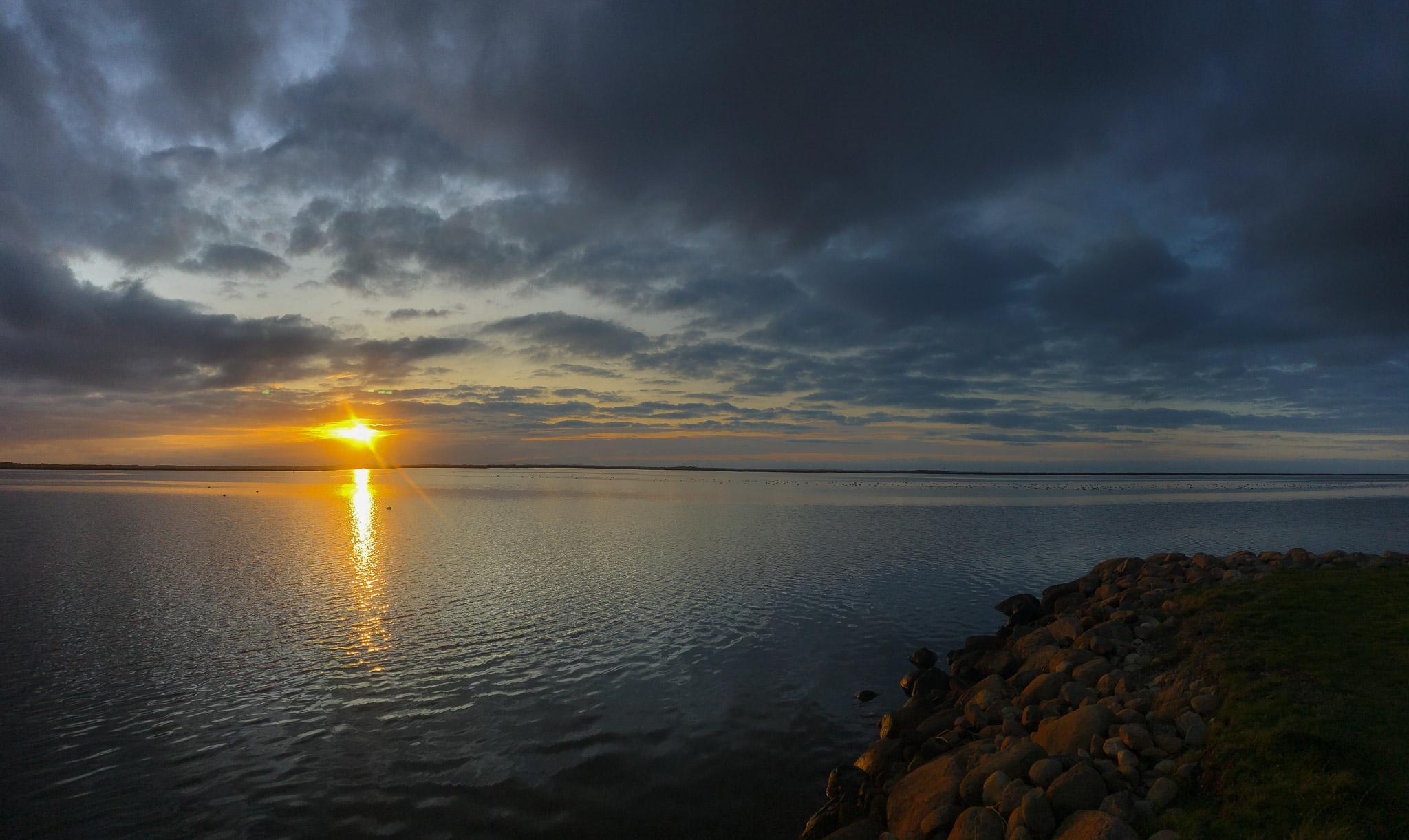Sonnenuntergang in Bork Havn