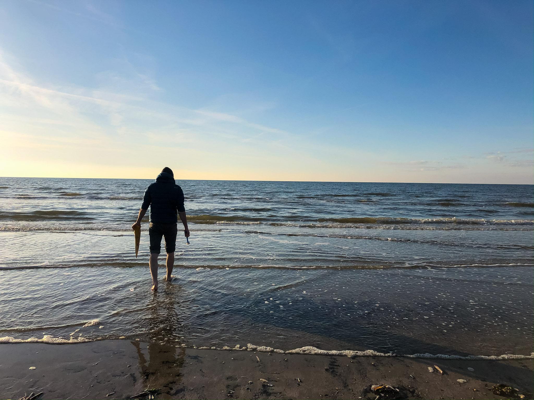 Keil-Wäsche im Meer
