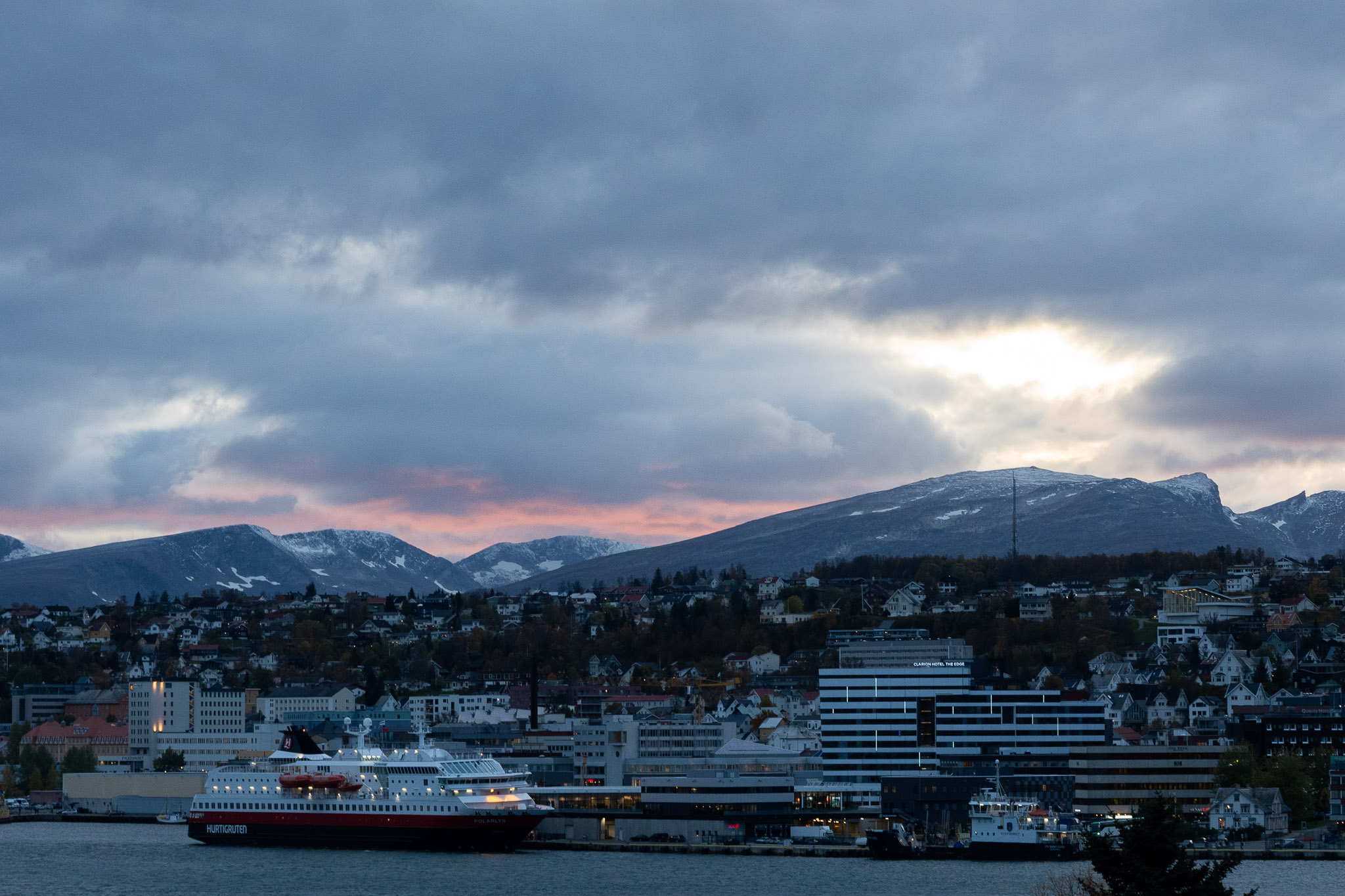 Sonnenuntergang über Tromsø