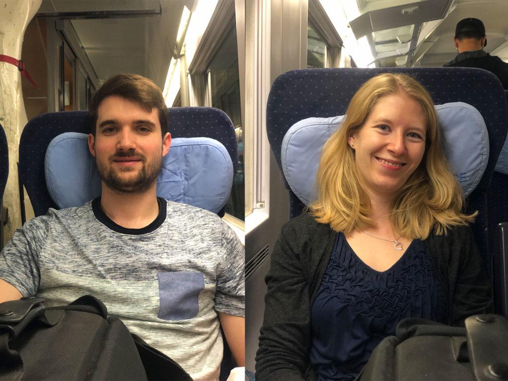 Unterwegs im Zug